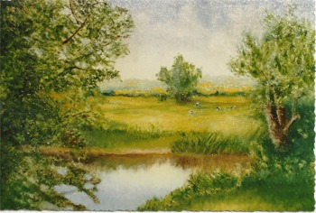 Painting of 'The Village Pond'